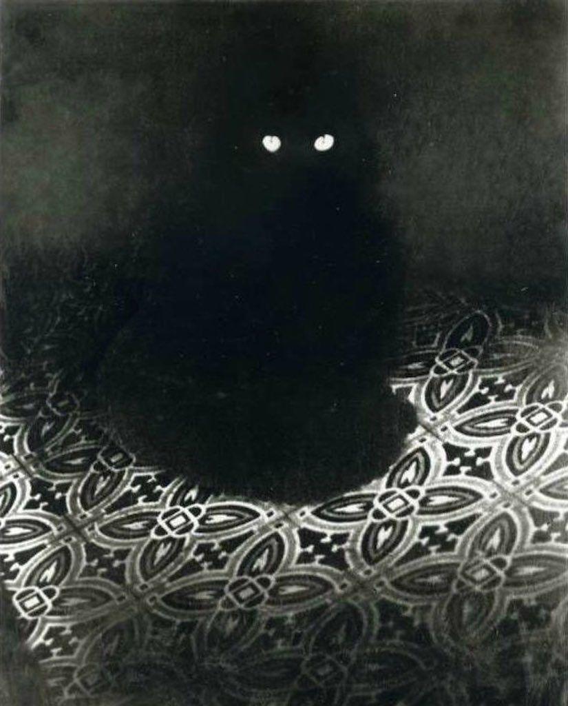 Le chat noir de Brassaï, photo en noir et blanc