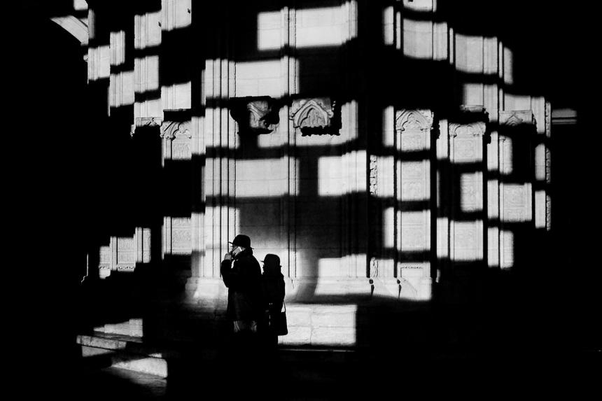 Photo de rue noir et blanc à Lyon