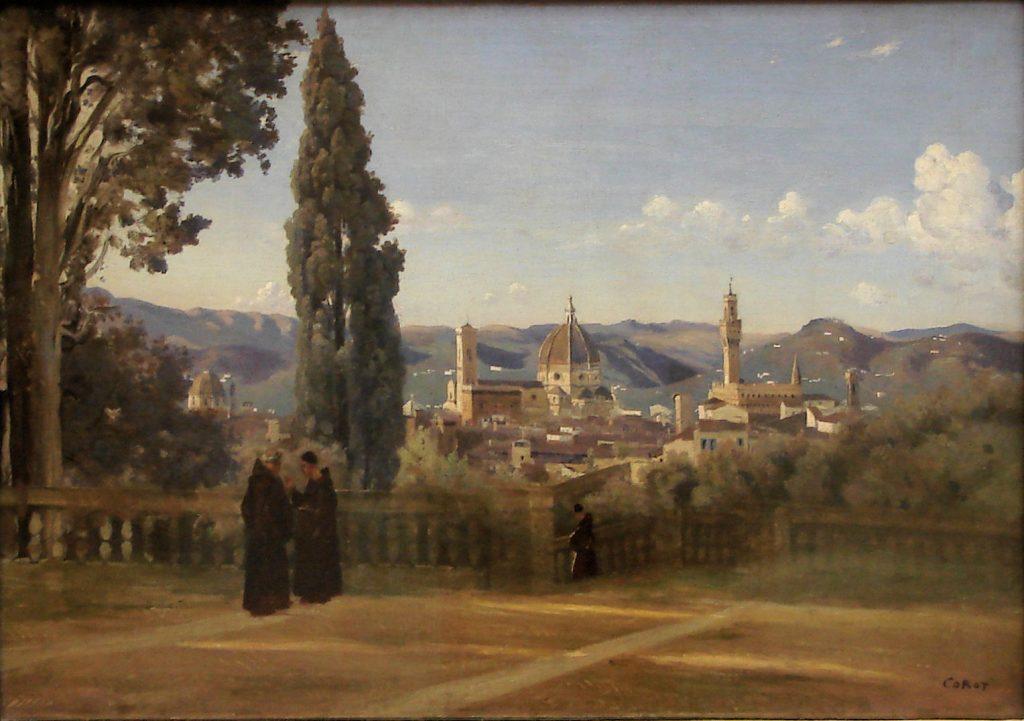 Composition de Corot illustrant la règle des tiers