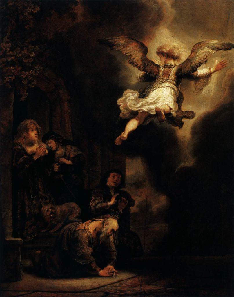 Rembrandt et le clair-obscur dans la révélation de l'ange
