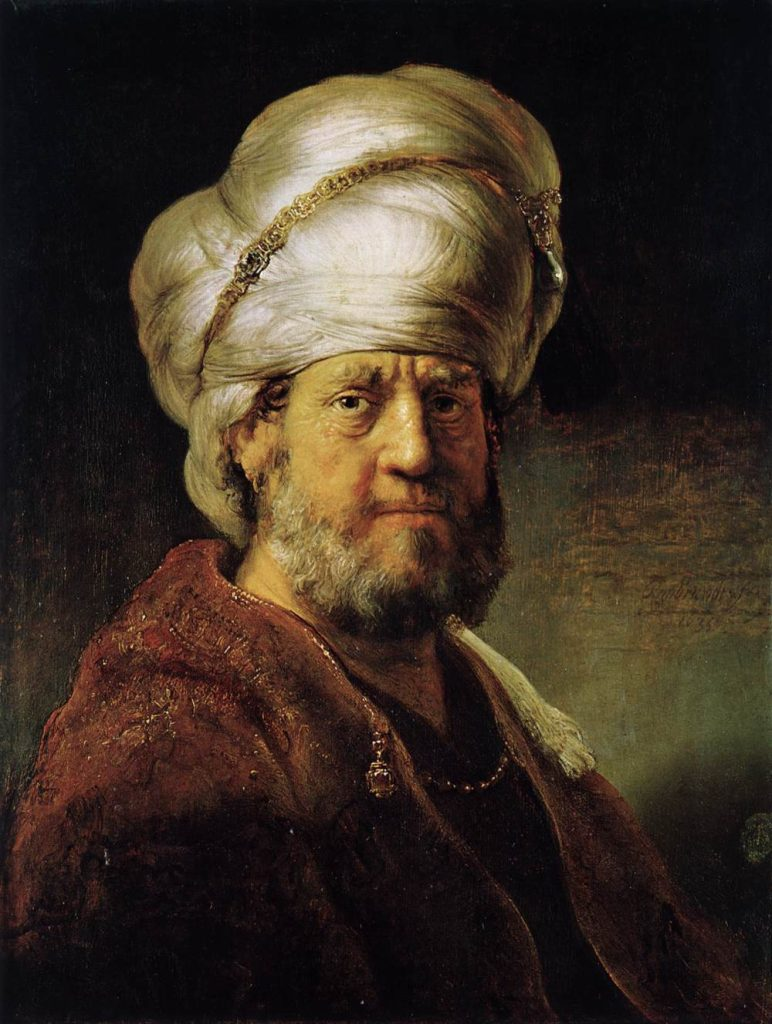 Portrait de Rembrandt figurant un homme oriental