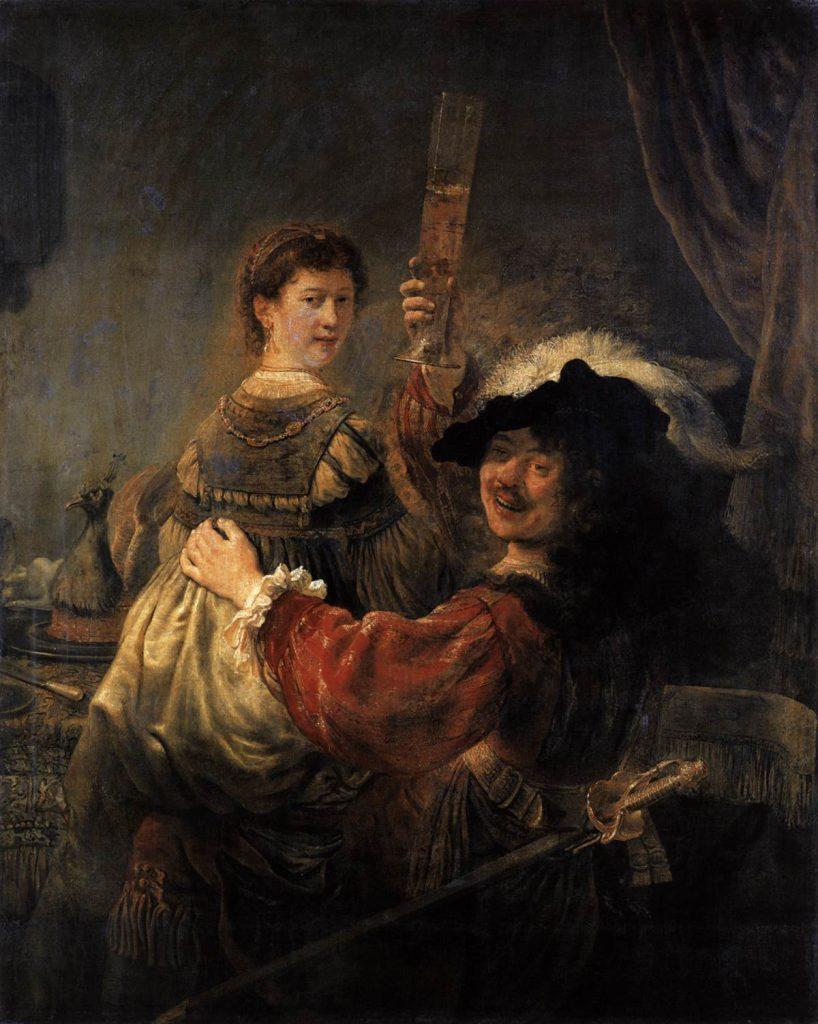 Portrait Rembrandt et sa femme Saskia