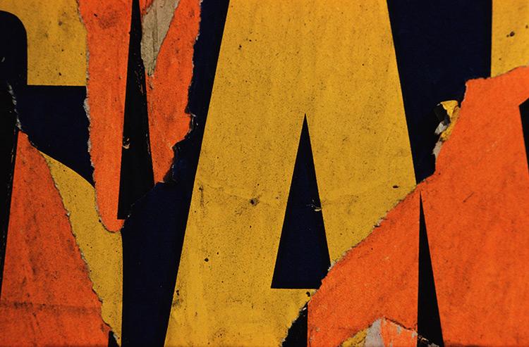 affiche abstraite par ernst haas