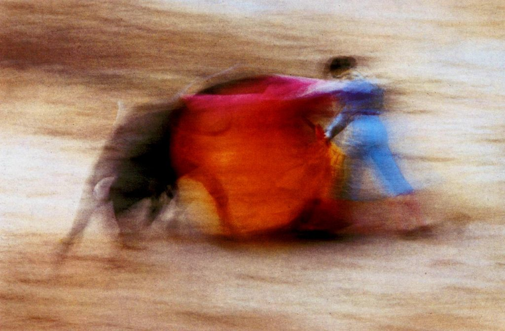 photographie de flou de bougé en tauromachie