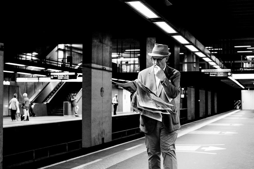 le métro offre des opportunités photographiques