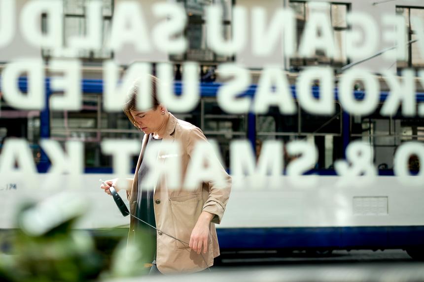 Scène de photo de rue à Riga